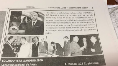 DECLARACIÓN PÚBLICA Consejo Regional Aysen sobre inserto que relativiza violaciones a los derechos humanos