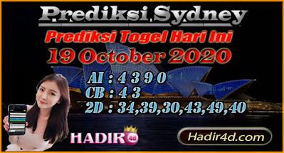 PREDIKSI TOGEL SYDNEY 19 OCTOBER 2020