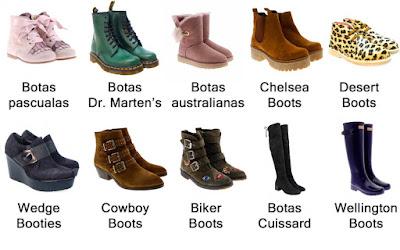 Tipos de bota de mujer