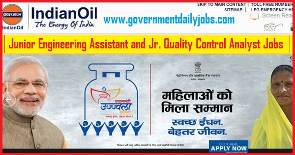 IOCL RECRUITMENT 2019 APPLY ONLINE 129 JUNIOR ENGINEER ASSISTANT