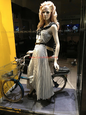 Riding Bicycle with Christian Louboutin: Harvey Nichols Birmingham
