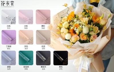 Kertas Buket Bunga / Flower-Bouquet Wrapping Paper (Seri HX ZIA)