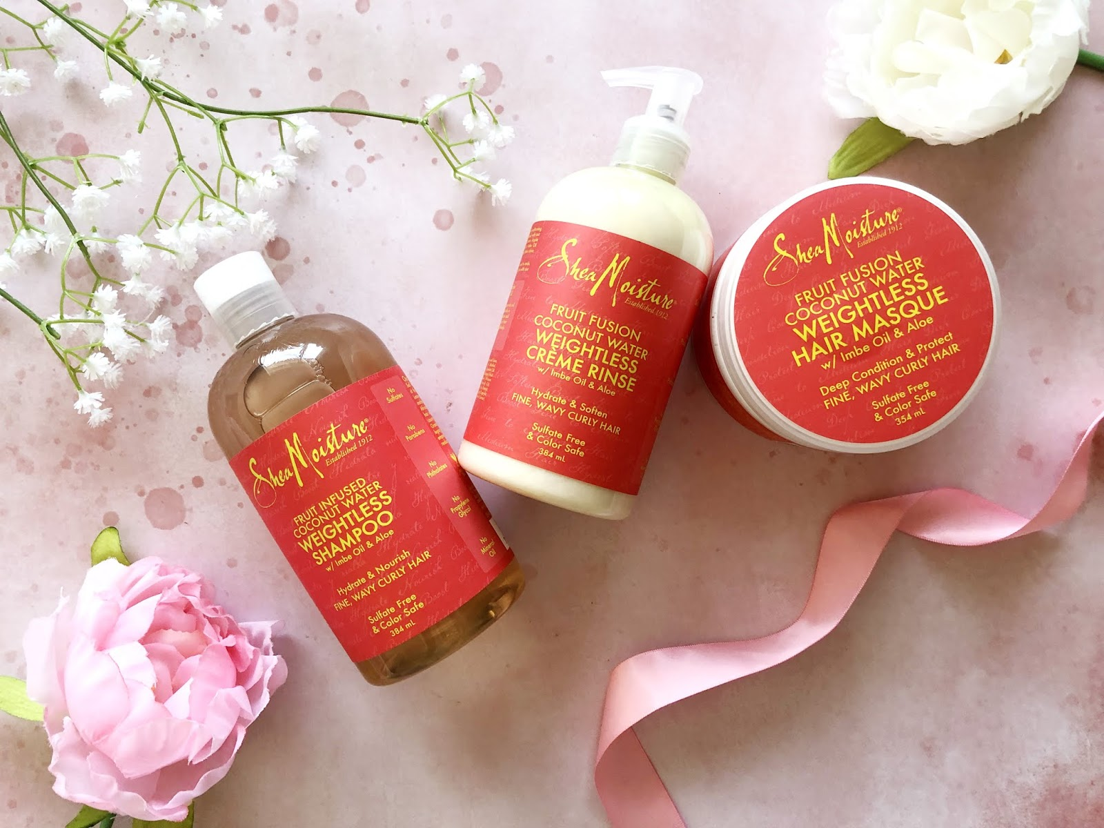 Shea Moisture Fruit Fusion Coconut Water Hair Collection