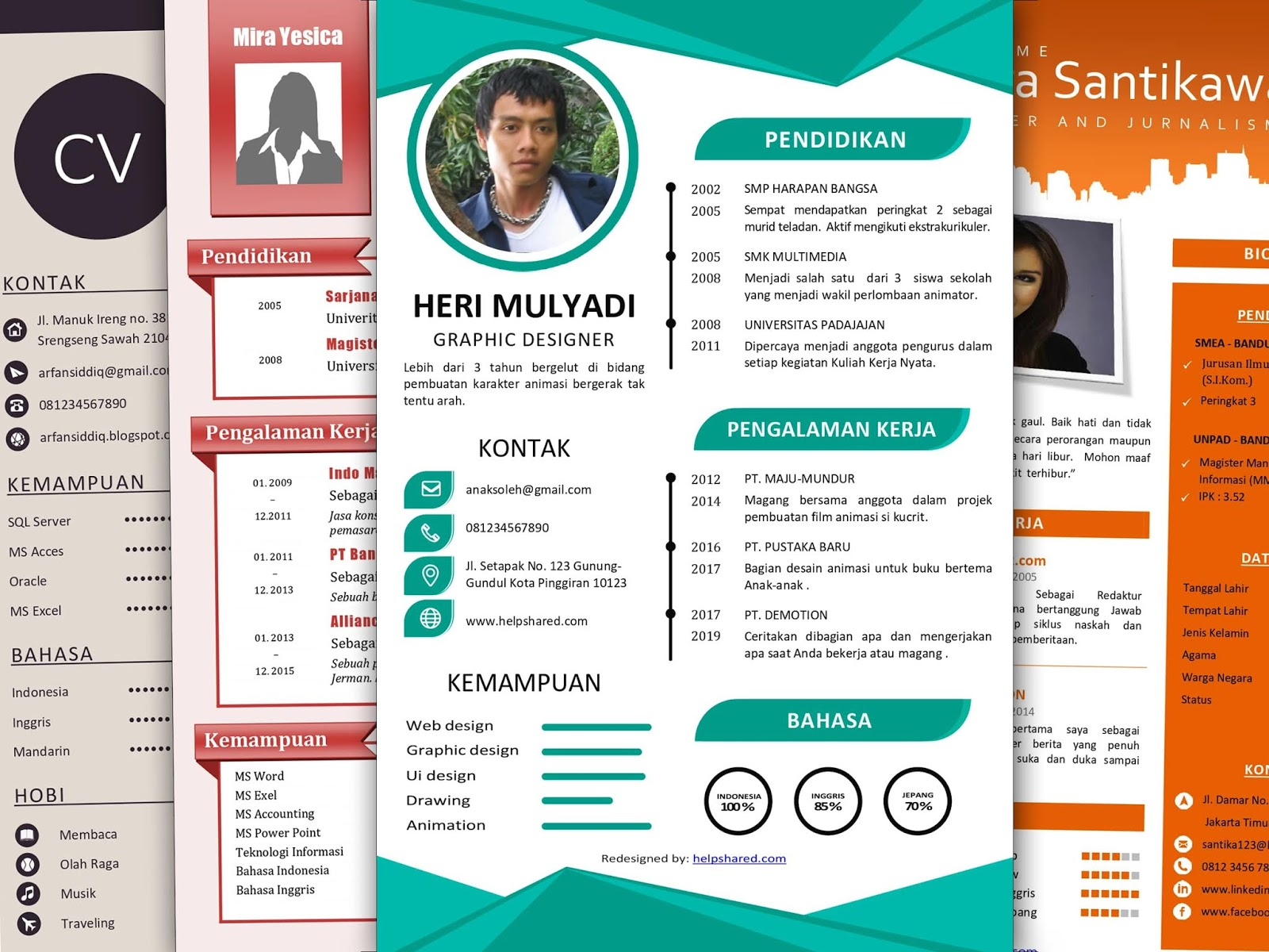 Contoh CV Lamaran Kerja Word docx pdf doc desain kreatif menarik bagus keren modern minimalis unik casual creative elegan cv bahasa indonesia fresh graduate mahasiswa template cv internasional download file format cv terbaru bisa di edit