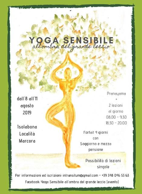 Yoga nell'entroterra di Ventimiglia