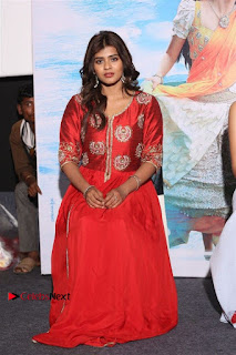 Actress Heba Patel Latest Stills in Red Dress at Mister Movie Trailer Launch Event  0038.jpg