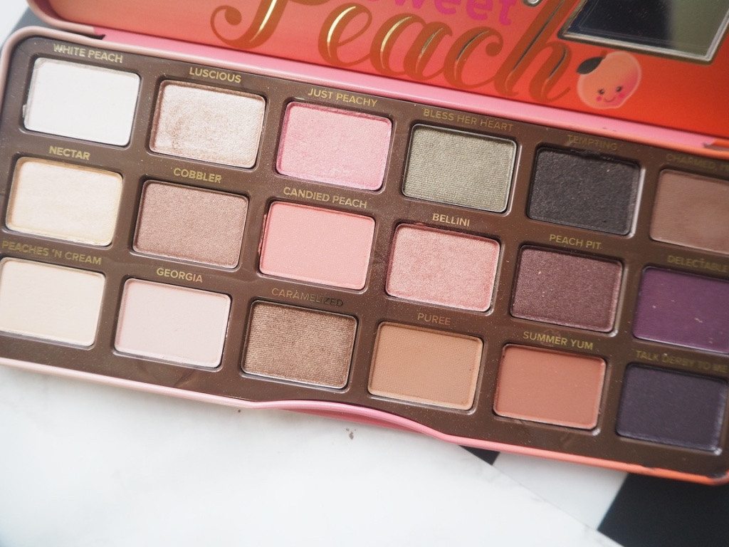 TOO FACED | CHOCOLATE BAR V. SWEET PEACH PALETTES - Samantha's ...