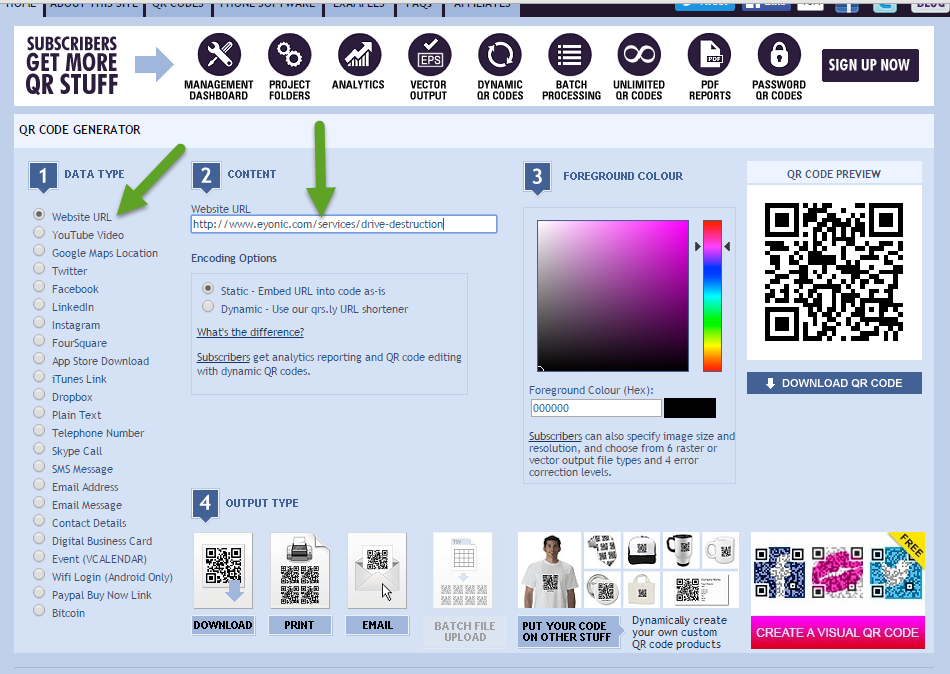 Eyonic Systems: How to Create QR Codes for Business Cards ...