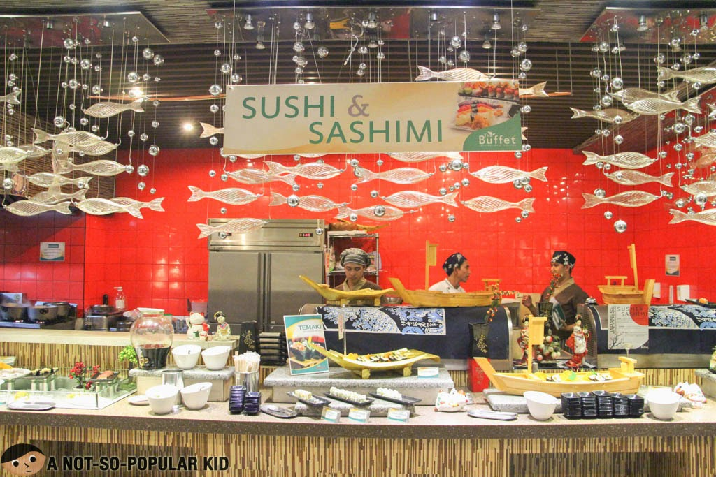 Sushi and Sashimi Collection of the The Buffet International Cuisine