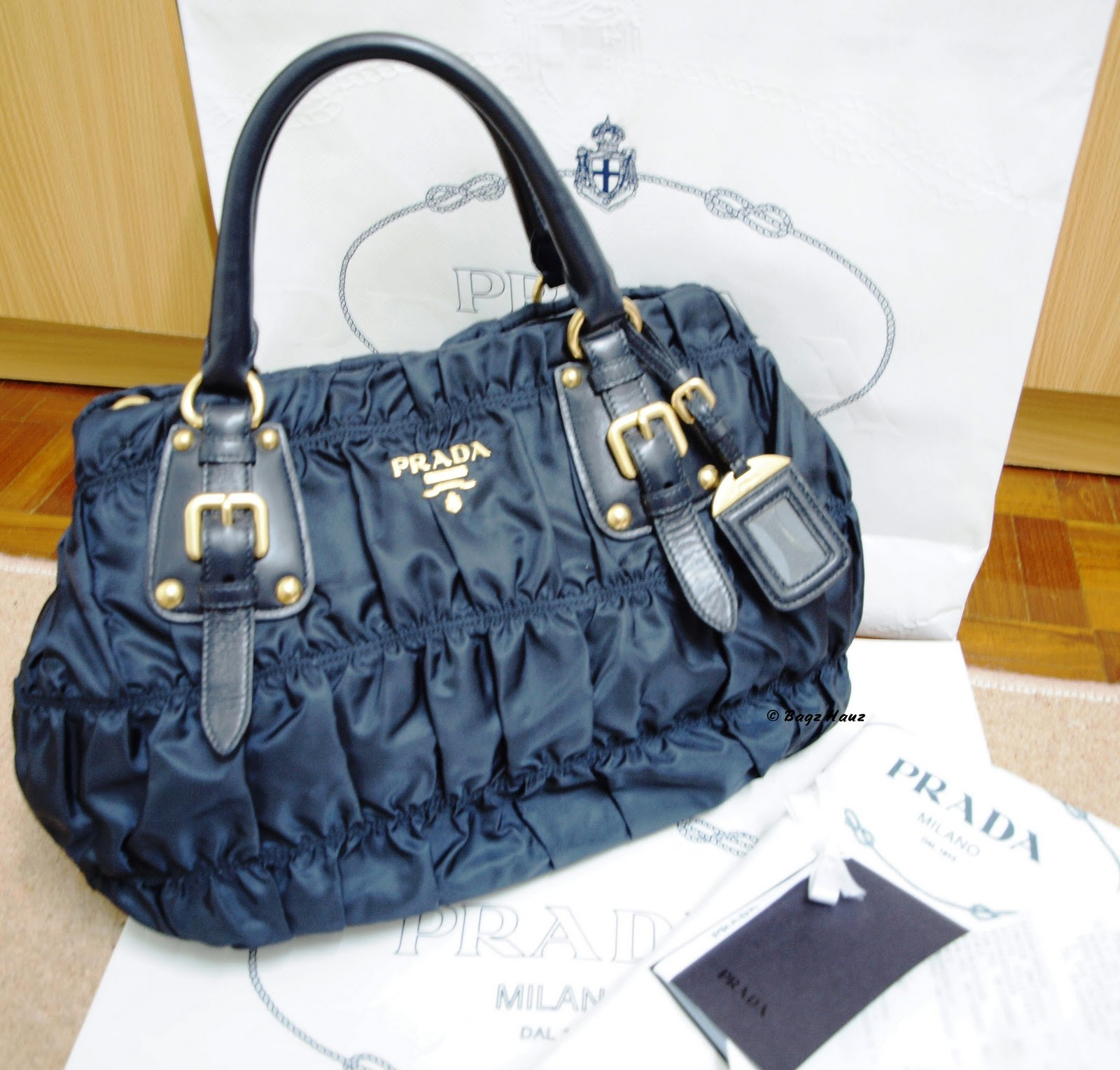 02054f283986 PRADA Gaufre Fabric Tote (BN1792) Blue ~ SOLD to Carmen