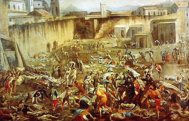 Lukisan mayat akibat Pesca di Napoli pada tahun 1656