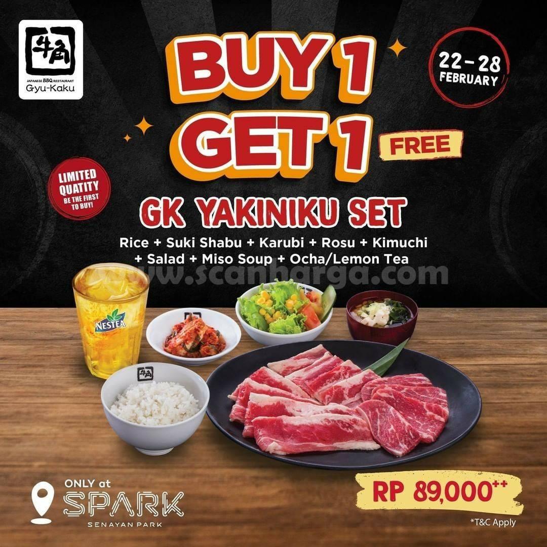Gyu-Kaku Promo GK YAKINIKU SET - Beli 1 GRATIS 1