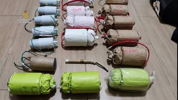 Desmantelado un importante taller clandestino de explosivos en el Aljarafe