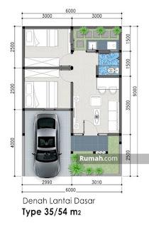 rumah minimalis ukuran 6x9 meter - desain rumah minimalis