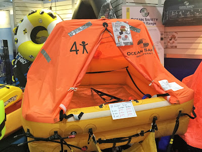 Pic of orange open 4 person liferaft