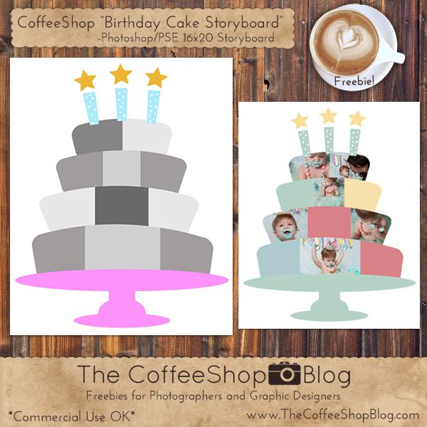 CoffeeShop 16x20 Birthday Cake Storyboard