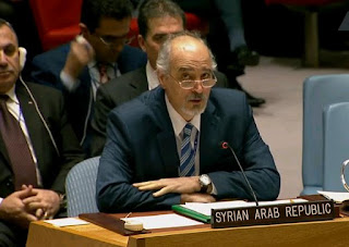 Syria's Permanent Representatives at the UN Dr. Bashar al-Jaafari