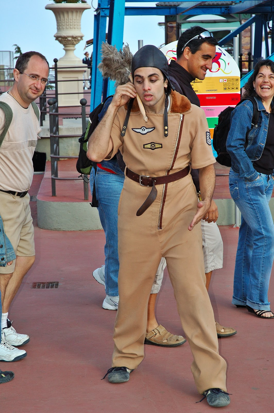Mime at Tibidabo Amusement Park