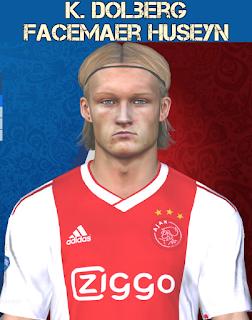 PES 2017 Faces Kasper Dolberg by Huseyn