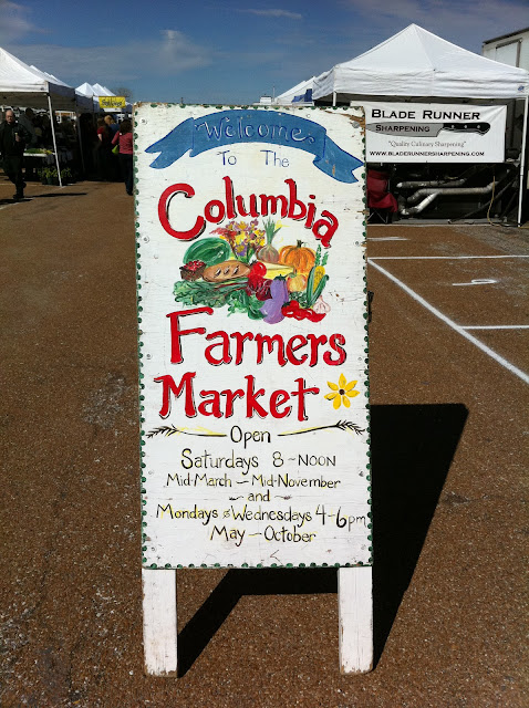 Columbia Missouri Farmer Market sign
