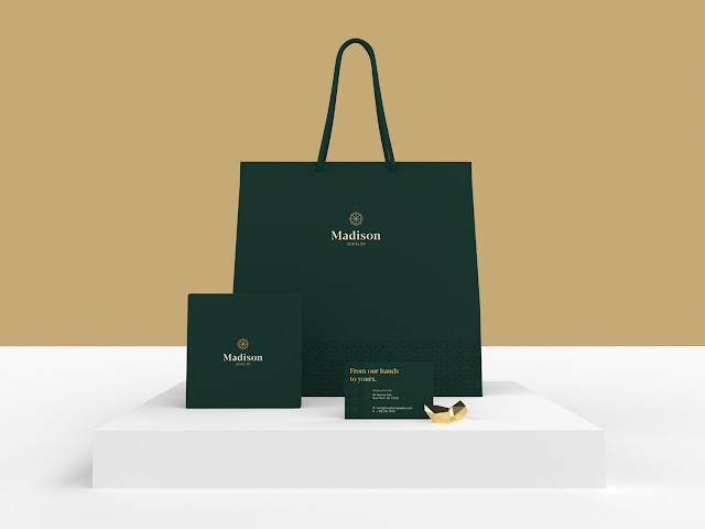 3d adobe dimension bag branding diamond dimension gold jewelry jewelry shop jewelry store luxury minimal mockup packaging packaging design product design render shopping vector