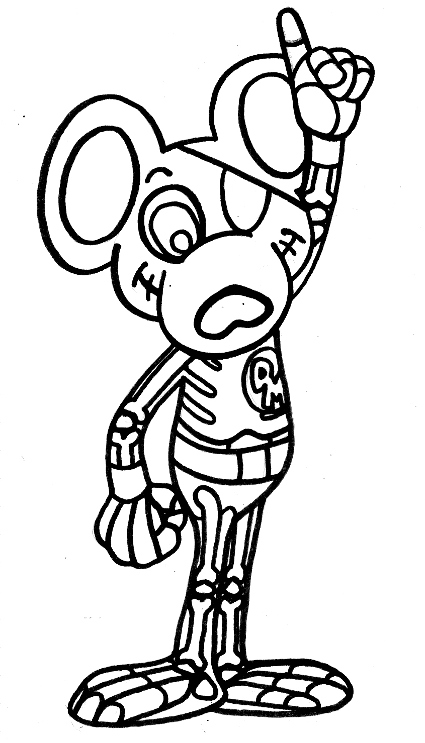 Yucca Flats Nm Wenchkins Coloring Pages Skeletal Danger Mouse - Danger-coloring-pages