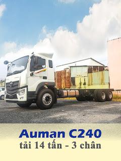 xe tải thaco auman c240 3 chân tải 14 tấn thùng 9,5 mét