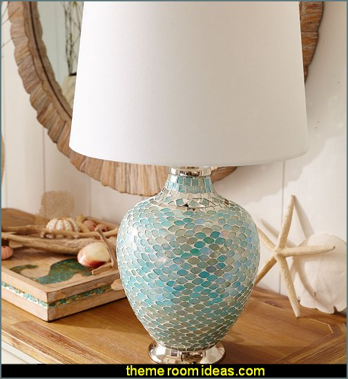 Aqua Mosaic Table Lamp
