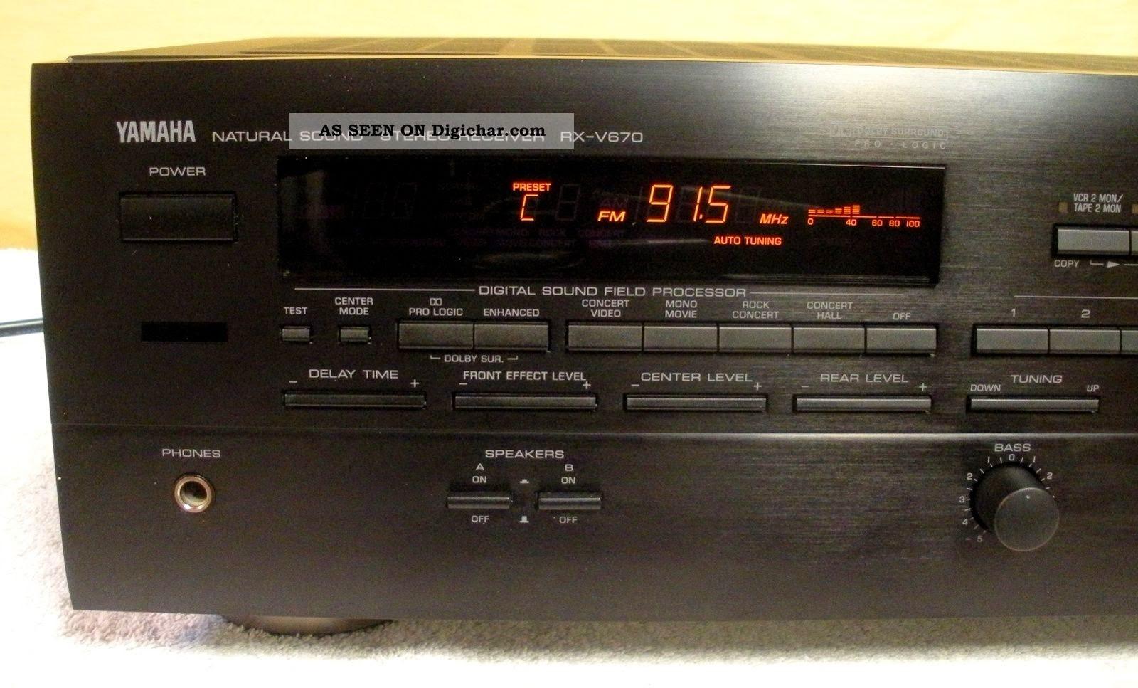 yamaha rx v670 av receiver audiobaza. Black Bedroom Furniture Sets. Home Design Ideas