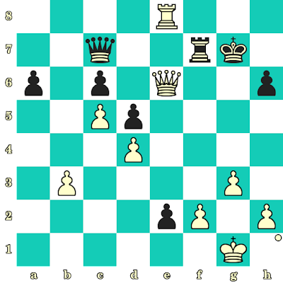 Les Blancs jouent et matent en 2 coups - Evgeny Postny vs Giga Quparadze, Internet, 2020