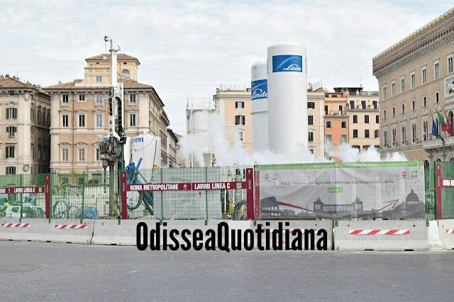 MetroC - La prima talpa arriva a piazza Venezia