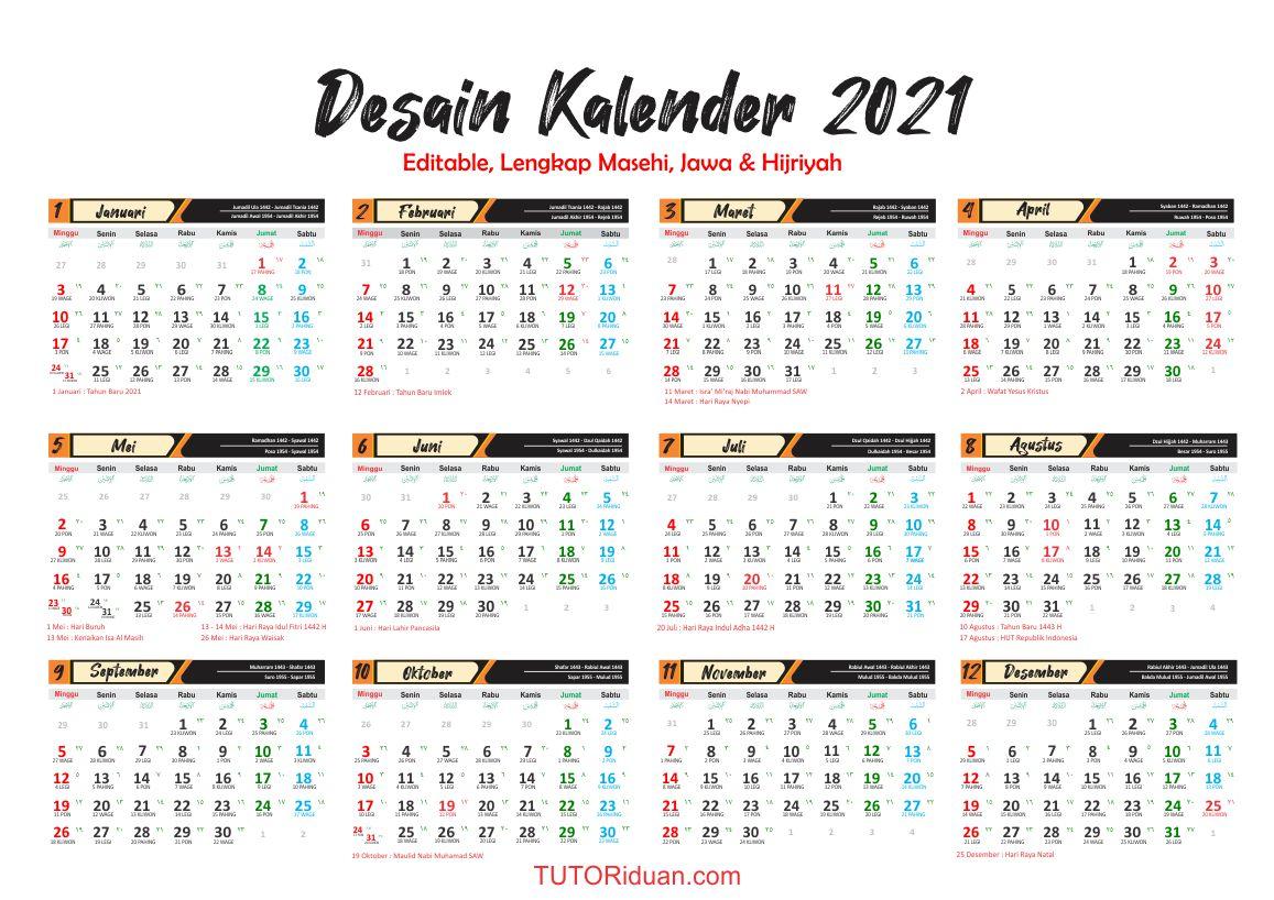 Luiz Martins: Get 27+ 39+ Template Kalender 2021 Cdr X7 ...