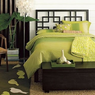 Dormitorio moderno verde