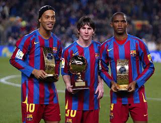 Ronaldinho refuses to put Messi above Maradona, Pele, and Ronaldo.