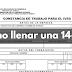 Constancia Trabajo para Seguro Social (14-100)