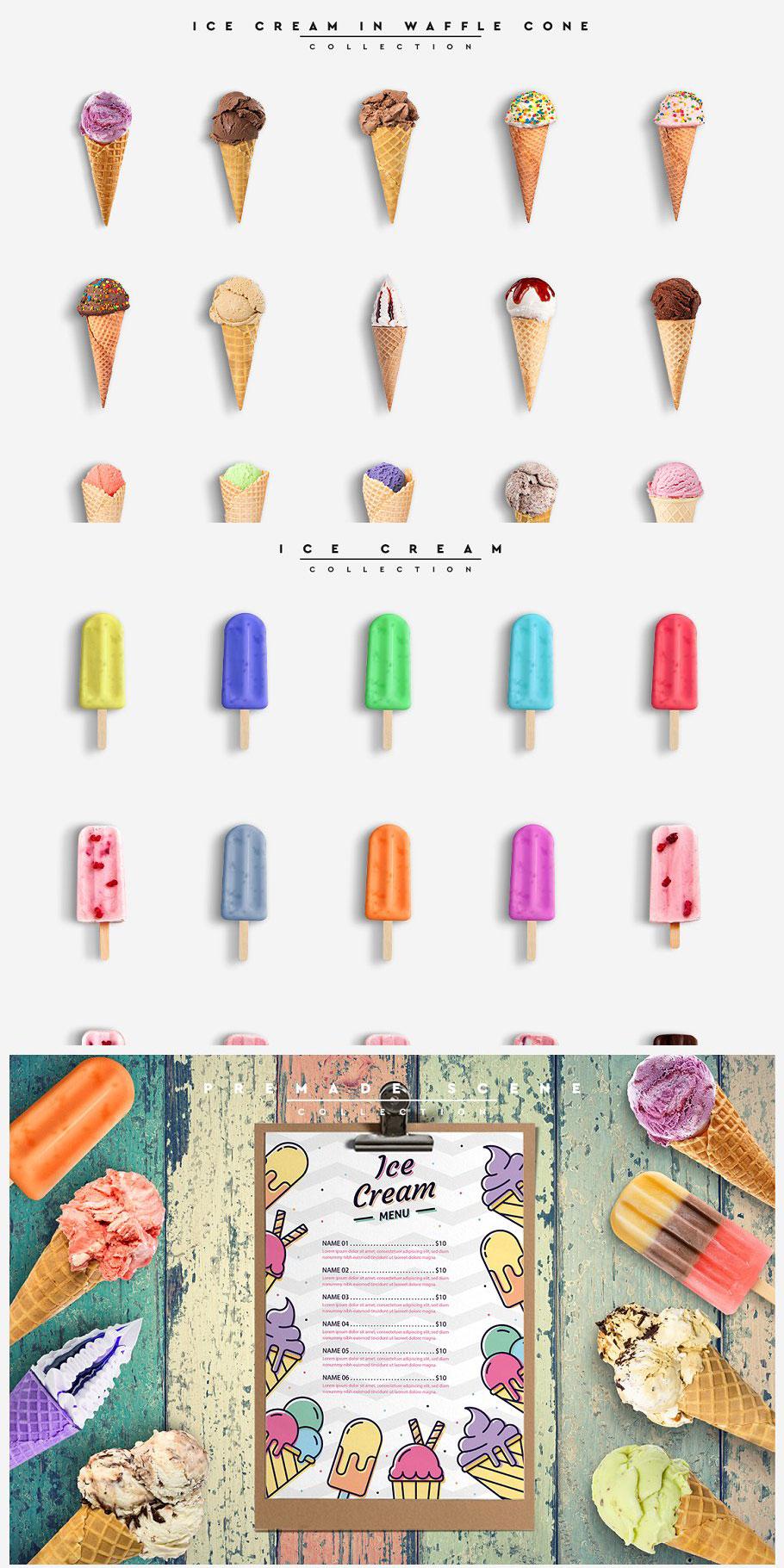 CreativeMarket Ice Cream Scene Creator %252301 4487477 Free Download