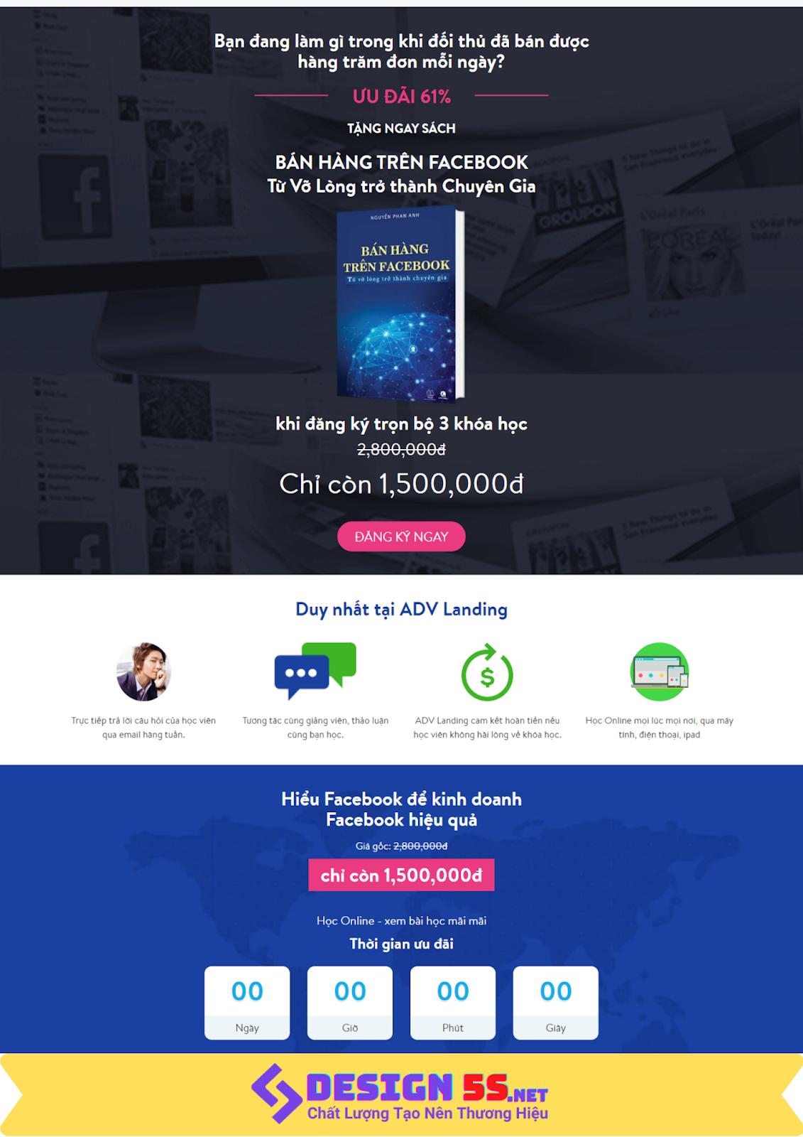Mẫu giao diện web Landing Page Blogspot Dịch vụ cho Facebook - Ảnh 2