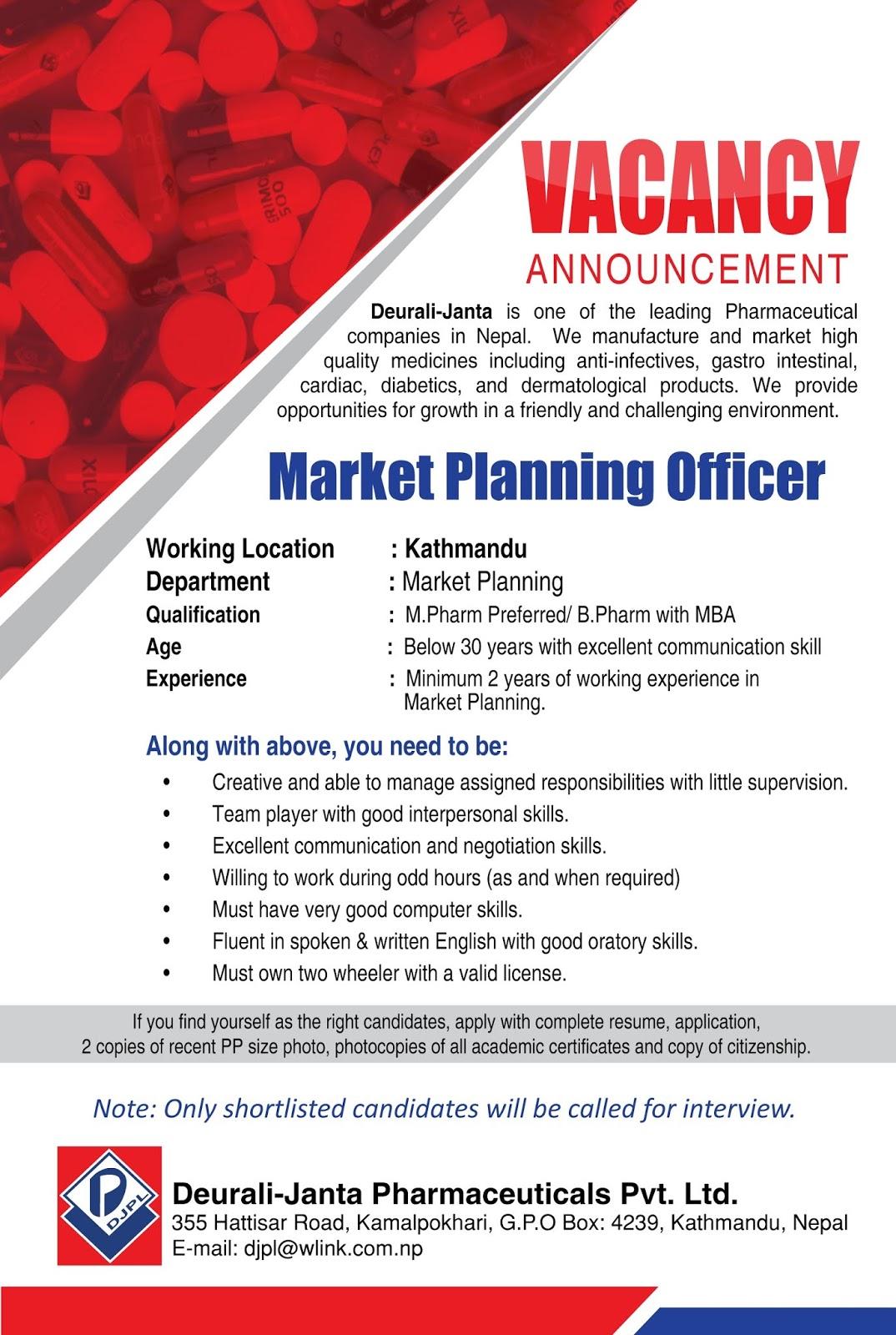 Medical Sales Officer Jobs at DJPL |Jan 2019 - Bhaktapurian