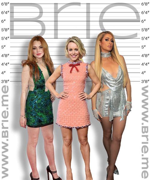 Rachel McAdams with Lindsay Lohan, and Paris Hilton