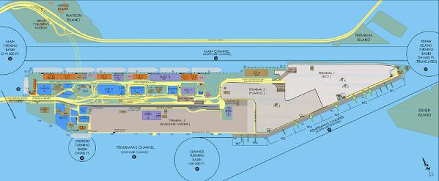 Mapa do PortMiami