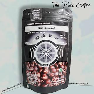 gambar bubuk kopi biji tunggal robusta