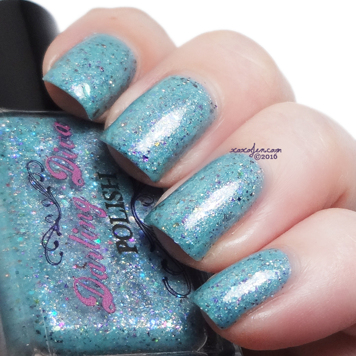 xoxoJen's swatch of Darling Diva Polish - Happy Birthday Teal Me