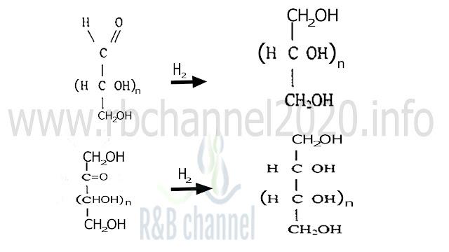 أرجاع السكريات الاحادية بالهيدروجين تفاعل الهدرجة