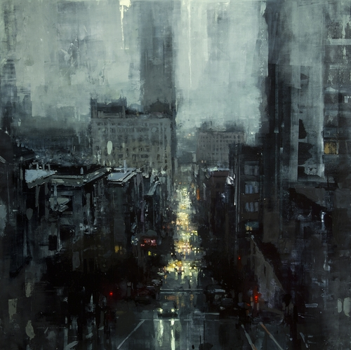 23-The-City-Tempest-Jeremy-Mann-Figurative-Painting-in-Cityscapes-Oil-Paintings-www-designstack-co