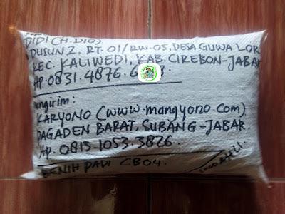 Benih Padi Pesanan DIDI Cirebon, Jabar.   (Setelah di Packing).