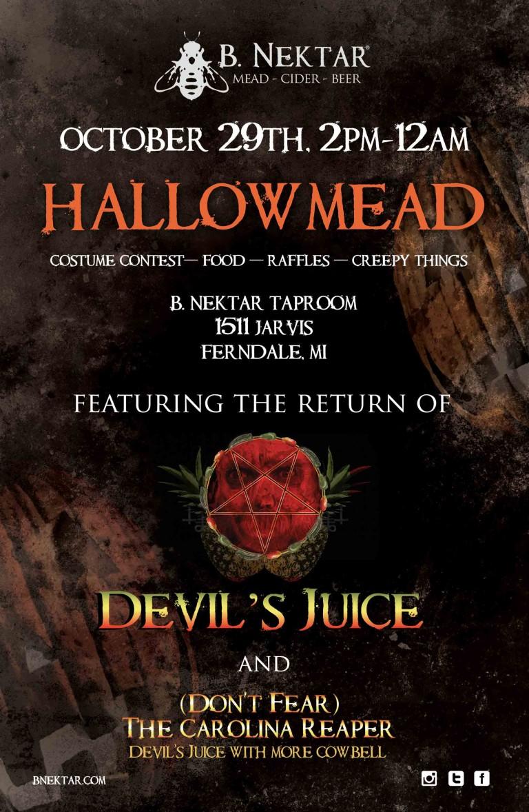 hip in detroit: celebrate halloween at b.nektar's hallowmead party