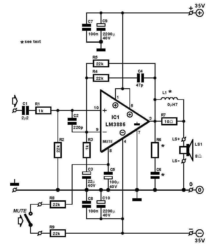 subwoofer circuit diagram