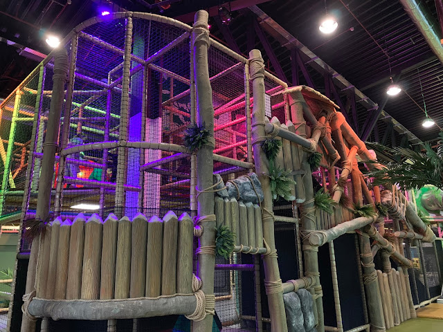 One corner of the dinosaur themed soft play at Dinotropolis