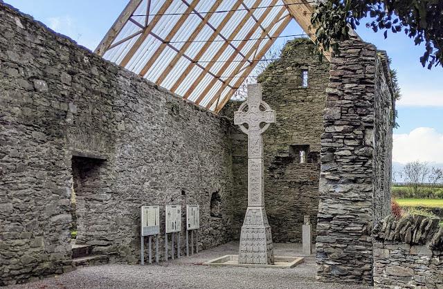 Moone High Cross near Kilkea Castle in South Kildare