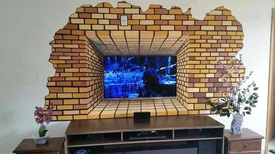 Amazing Creative Ideas Painting 3D Wall TV